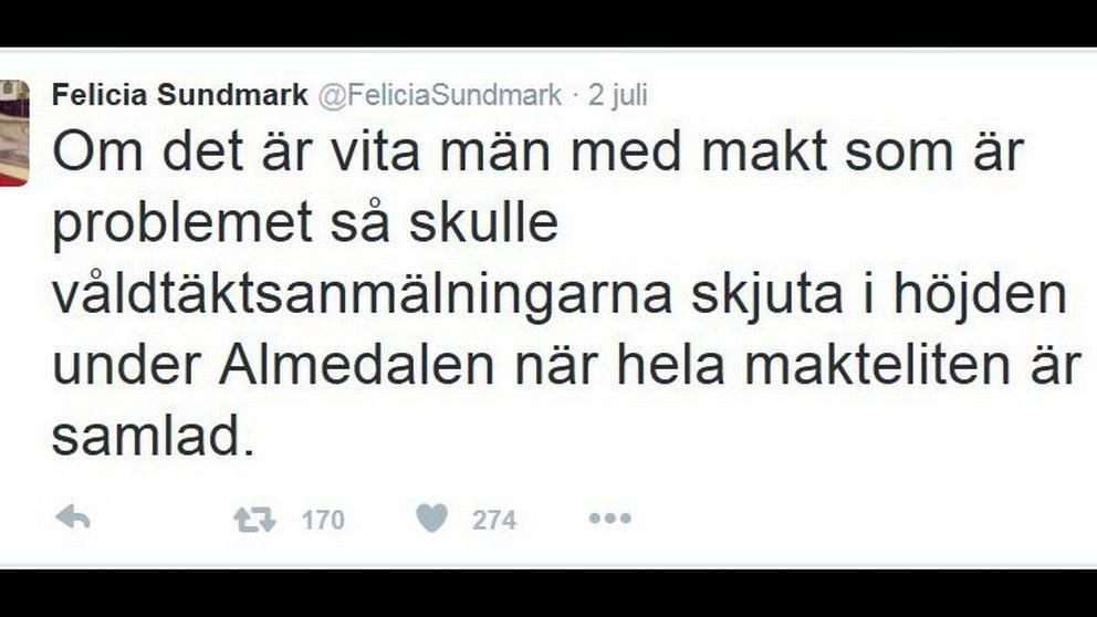 Felicia Sundmark twitter