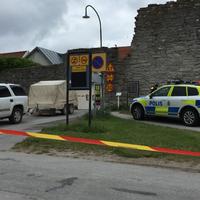 Bomblarm i Visby