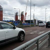 Saltsjöbro omledd trafik Södertälje motorvägsbron