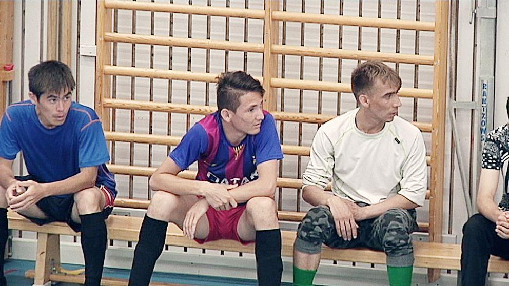 Nattfotboll i Sävja.