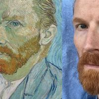 Petter Samuelson, dubbelgångare till Vincent van Gogh.