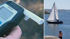 Delad bild: segelbåt och alkomätare