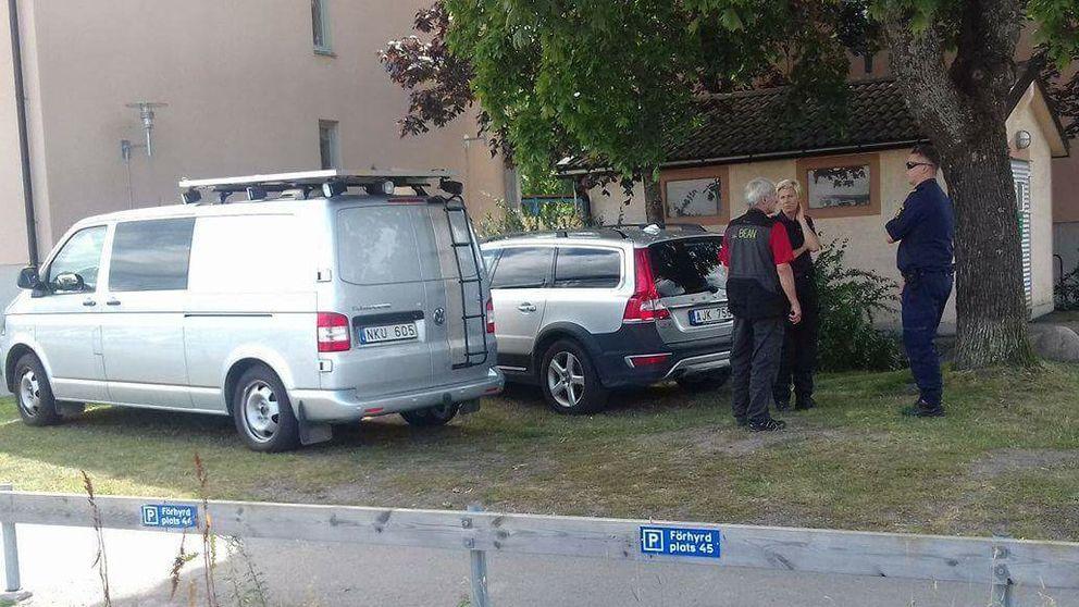 Misstänkt mord i Enköping.
