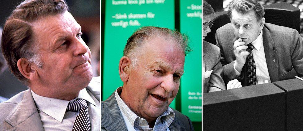 Thorbjörn Fälldin, bilder från 1981, 2005 och 1980.
