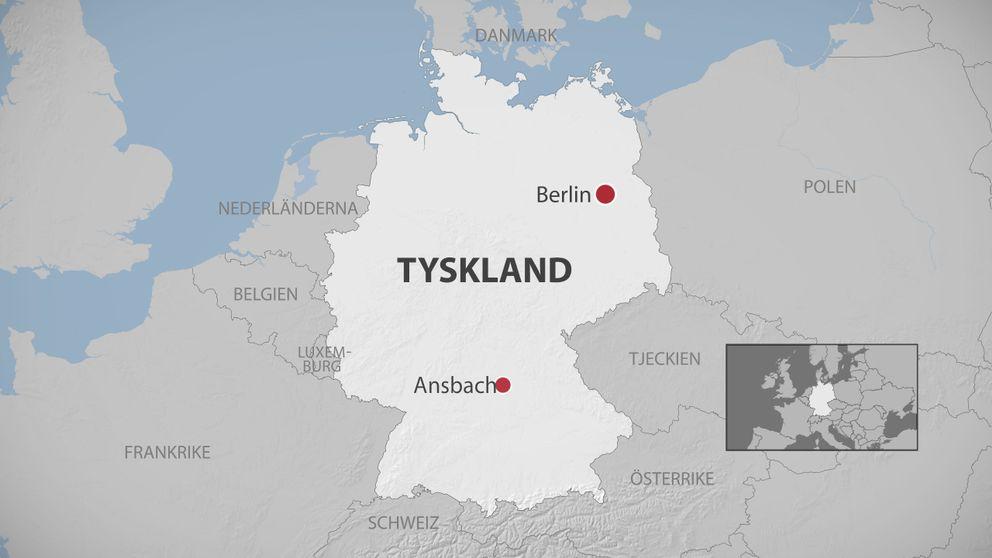 Karta över Tyskland.