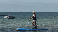 Camilla Ekberg, stand up-pedalboard