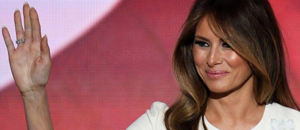 """First lady""-kandidaten Melania Trump."