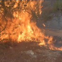 Brand på grekiska ön Chios