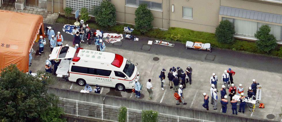 En man har gripits efter att minst 15 personer har knivhuggits till döds i Japan.