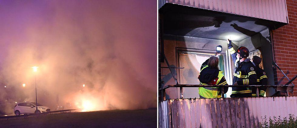 Flera bränder har härjat i samma område i Bromölla, Skåne.