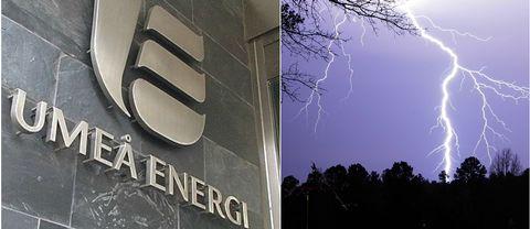 Umeå Energi, blixtnedslag