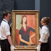 Modiglianis Jeanne Hebuterne (au foulard), 19191, såldes på Sotheby's i London i juni för rekordpris.