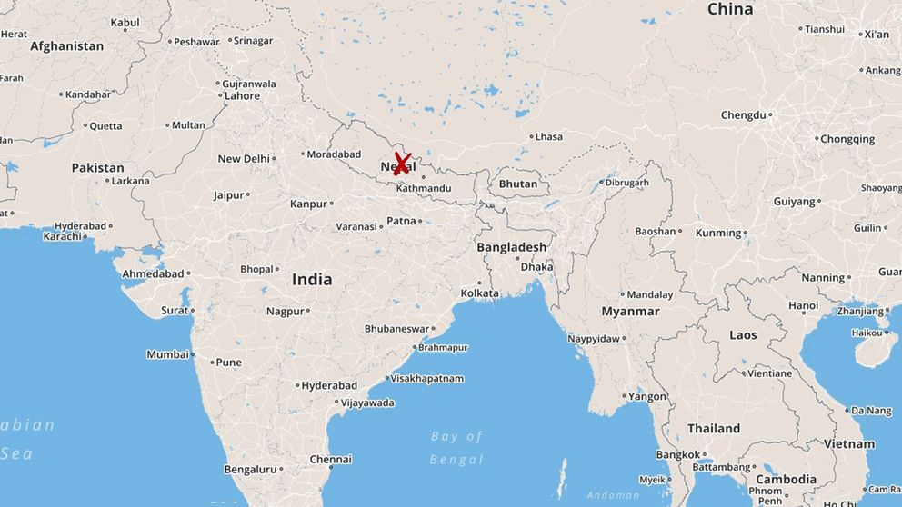 nepal karta Monsunregn har dödat 58 i Nepal | SVT Nyheter nepal karta