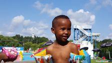 Abdiaziz Mohamed, 5 år, är nu tillbaka på Barnens gård.
