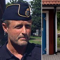 Polisens presstalesperson Christer Fuxborg och en husbil på en rastplats.