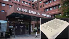 Sundsvalls kommun och papper.