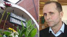 Till vänster: entrén till stadshuset i Laholm. Till höger: Björn Jingblad.