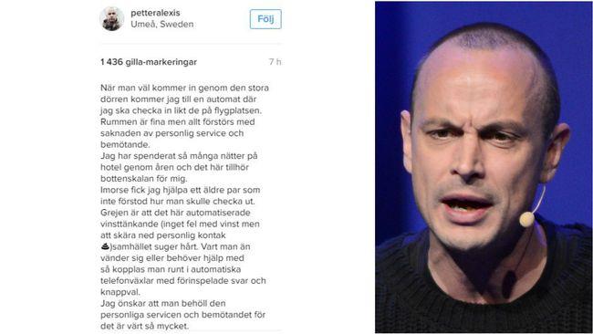 """Petter om hotellet: """"Tillhör bottenskalan för mig"""""""