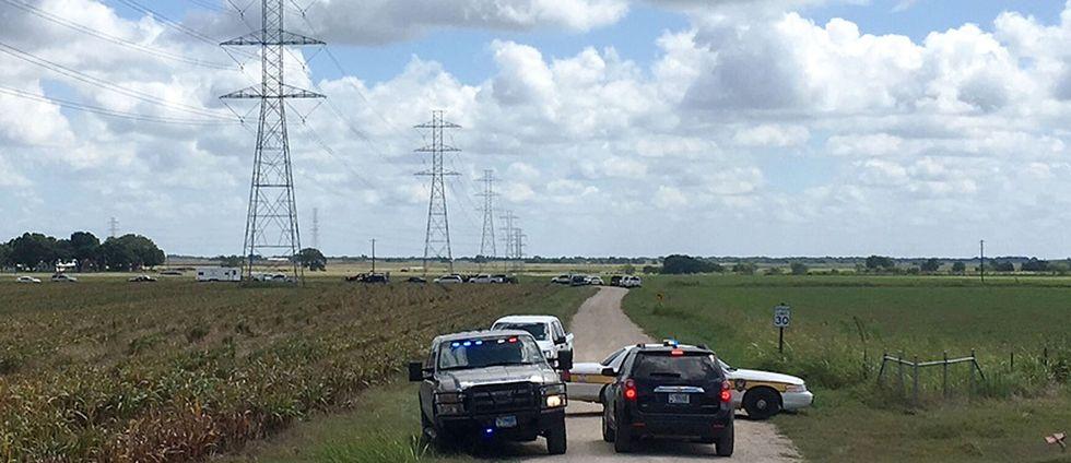 Luftballong störtade i Lockhart, Texas, USA.