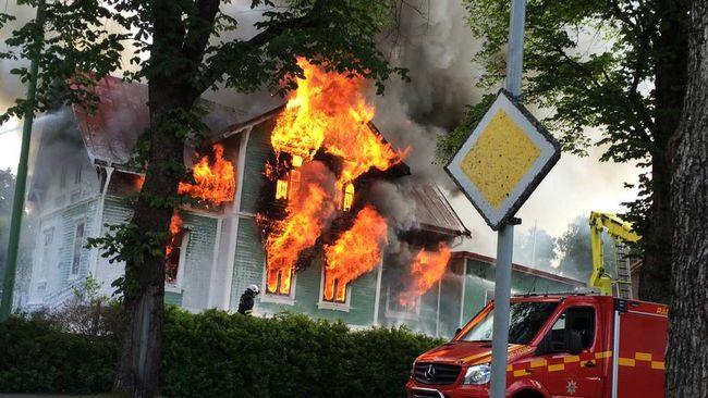 totalbrand i förskolan i Falköping