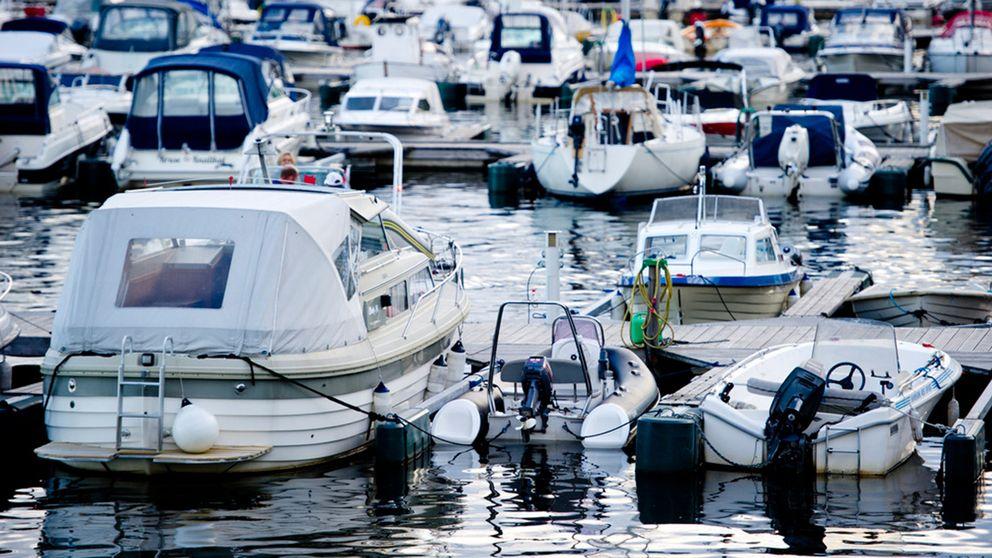 Fritidsbåtar i hamn.