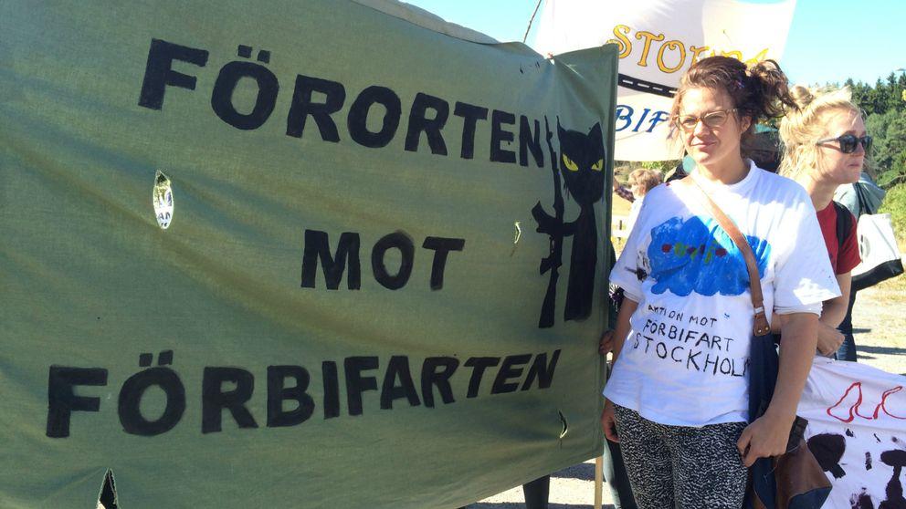 Demonstration mot Förbifarten