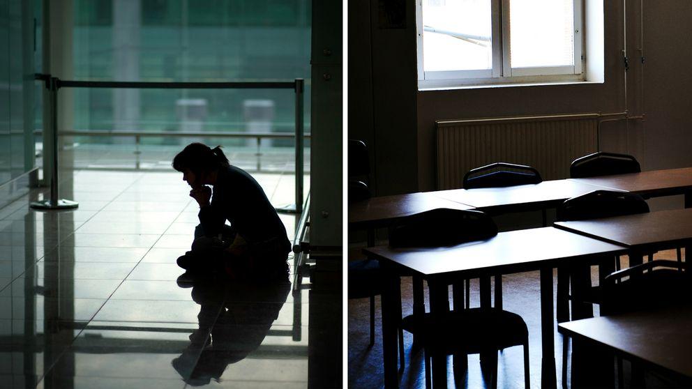 Image result for Tomma skolbänkar efter bortförande utomlands