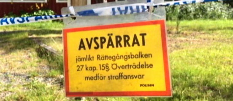 Avspärrning rån Slagnäs Arjeplog