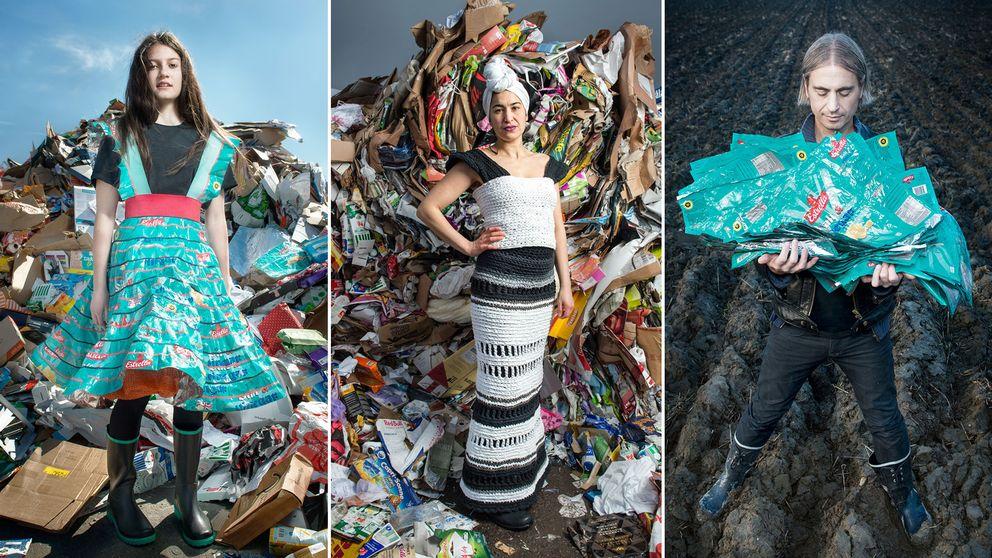"""I """"Project precious trash"""" förvandlas skräp till mode."""