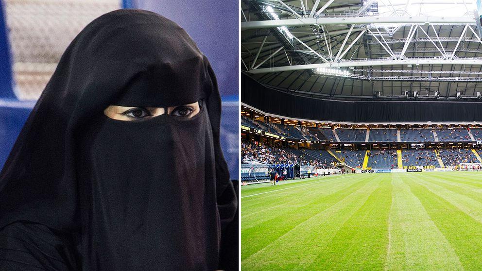 Polisen vill att burka förbjuds på idrottsarenor