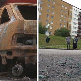 Boende i stadsdelen Kroksbäck är bekymrade över sommarens alla bilbränder