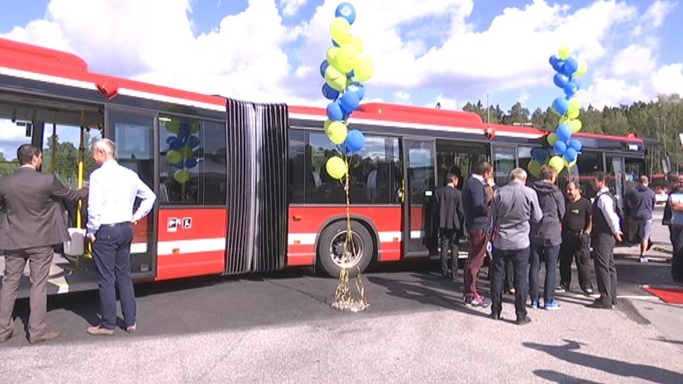 Nya bussar. Nobina. SL. Buss. Södertälje. Invigning. Wifi.