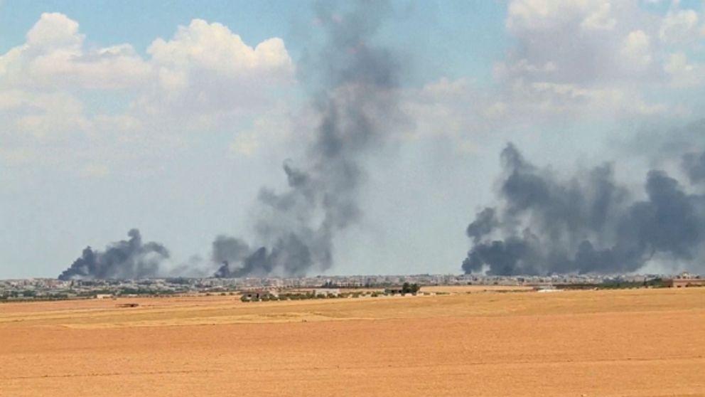 Turkiet beskjuter syrien