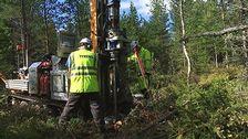 borrning i I20-skogen inför norrbitniabanan
