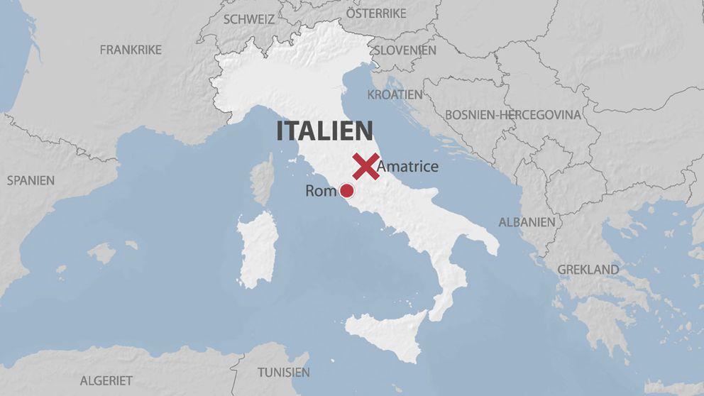 italien karta svenska Jordbävningen i Italien – detta har hänt | SVT Nyheter italien karta svenska