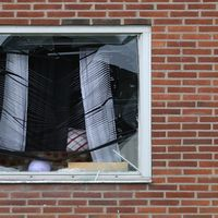 lägenheten där explosionen inträffade i Biskopsgården.