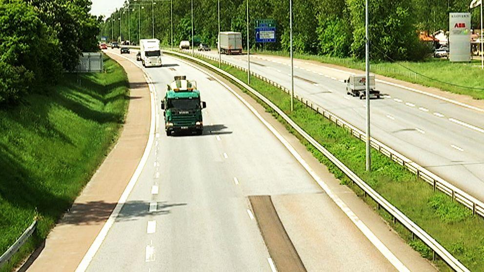 Incidenten inträffade på E18 i Karlstad