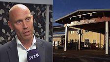 Regiondirektör Lars Christensen och entren till Karlstad Airport