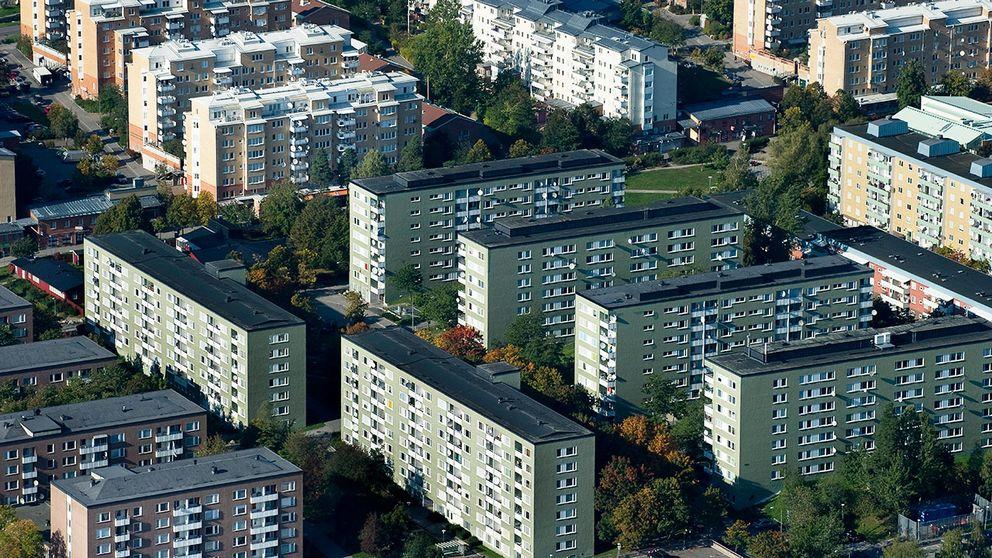 Bostadsområdet Rinkeby i Stockholm.