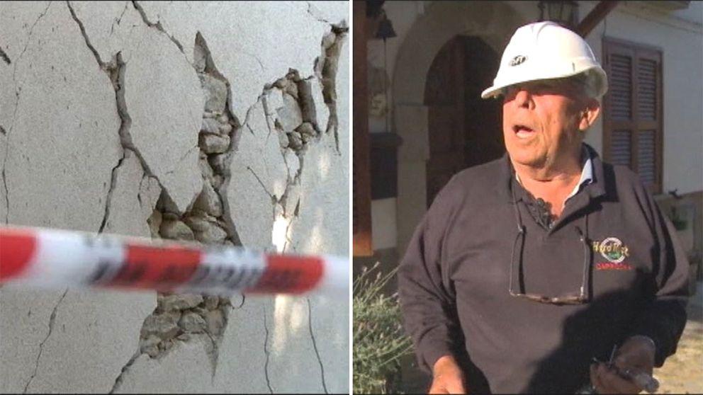 81-årige Rinaldo Plini vägrar att lämna sin jordbävningsdrabbade by.