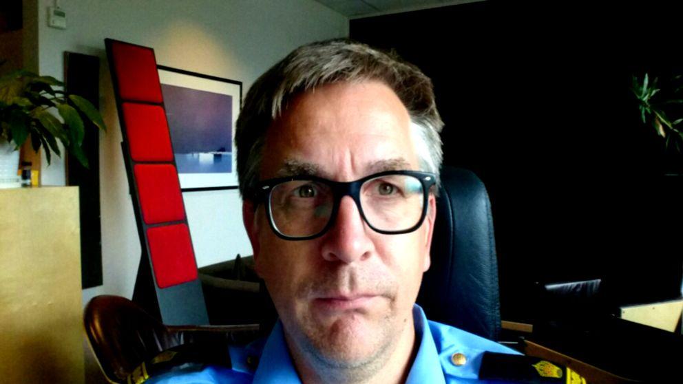 Richard Tegnér, stationsbefäl Stockholm syd