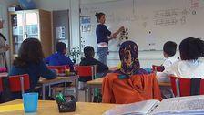 asylsökande elever i en skolklass