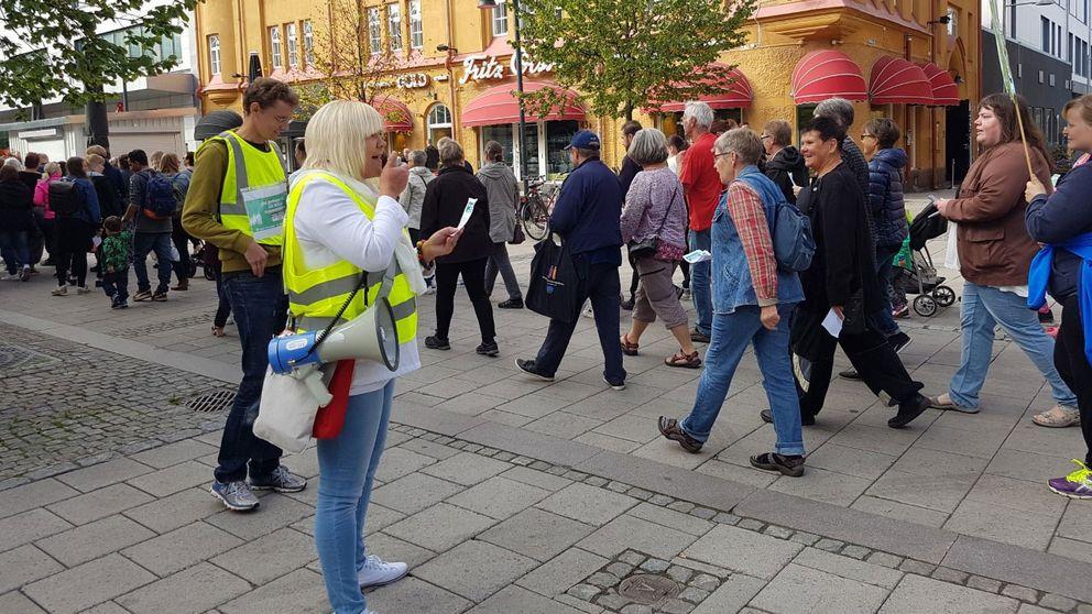 Vårdupprorets demonstration i Luleå