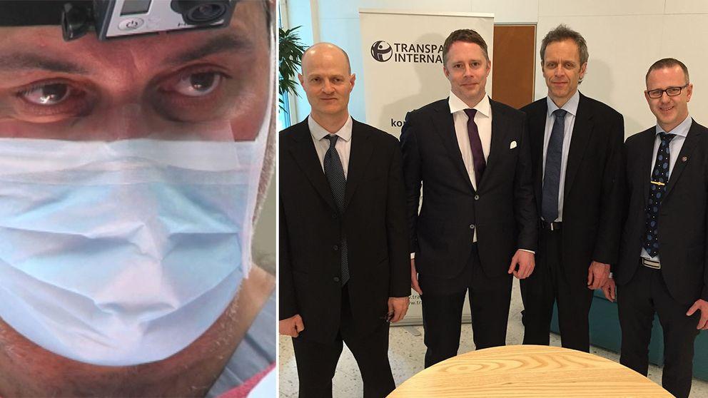 KI-läkarna Mathias Corbascio, Thomas Fux, Karl-Henrik Grinnemo och Oscar Simonson anmälde kirurgen Paolo Macchiarini för forskningsfusk. Nu prisas de.