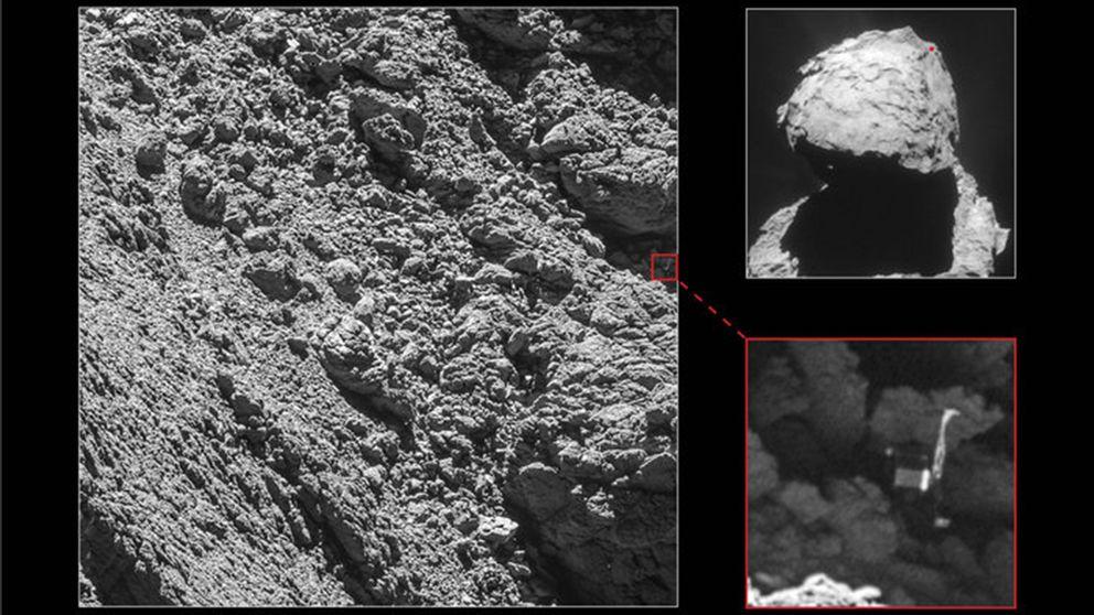 Här är bilden på kometlandaren Philae som äntligen upptäckts.
