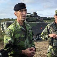 Överbefälhavaren MicaelBydén besökte Gotland under torsdagen.