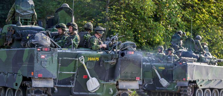 Militärer på Gotland.