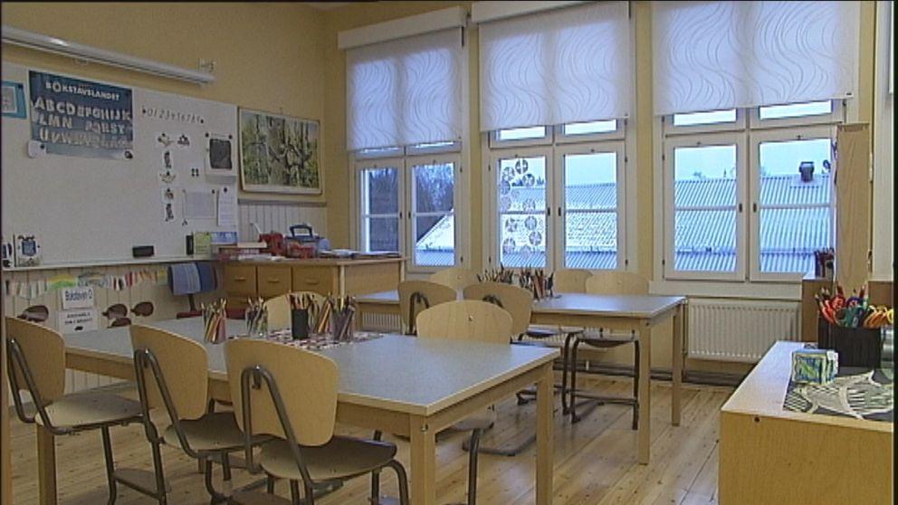 Tomt klassrum skola Luleå