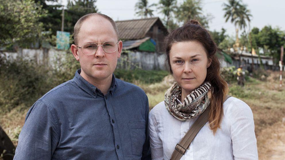 Journalisterna Tobias Andersson Åkerblom och Moa Kärnstrand.