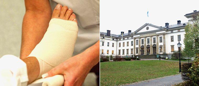 Bandage och Stockholms läns landsting på Kungsholmen i Stockholm.
